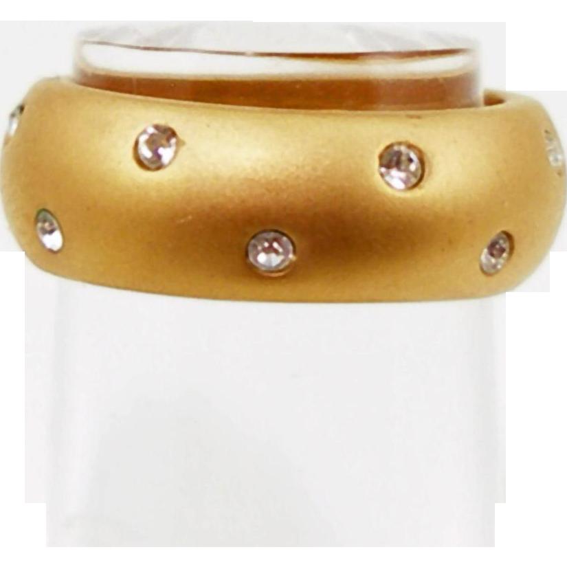 Vintage Swarovski Embedded Rhinestones Ring