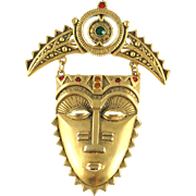 Vintage Avon Ancient Mayan Mask Pin