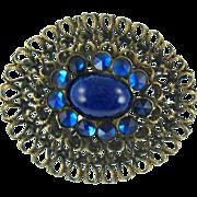 Vintage Kandell & Marcus Blue Stone Pin