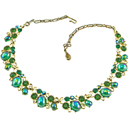 Vintage Lisner Carnival Glass Necklace