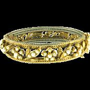 Vintage Florenza Faux Pearl Floral Bracelet