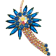 Vintage DeLizza & Elster Shooting Star Brooch