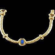 1960's Goldette Faux Lapis Bracelet