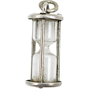 1960's Beau Sterling Hour Glass Charm