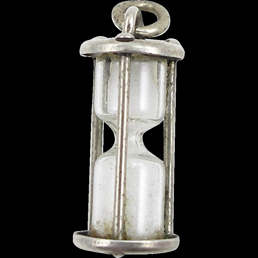 1960's Beau Sterling Hour Glass Charm