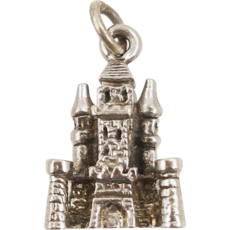 Vintage Sterling 3D Russian Building Charm