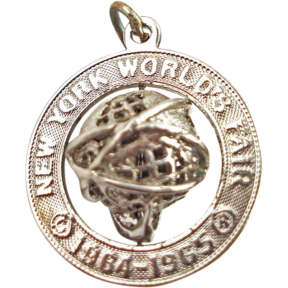 Sterling 3D New York World's Fair Charm