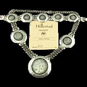 Eivind G Hillestad Pewter Necklace & Bracelet