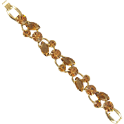 Vintage D&E Juliana Light Smoked Topaz Bracelet