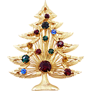 Vintage Signed Brooks Christmas Tree Pin