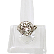 14K White Gold Diamond Cocktail Ring