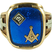 Vintage 10K Man's Masonic Ring