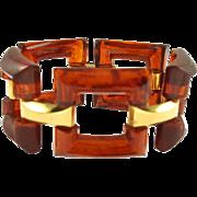 Vintage Trifari Faux Tortoise Lucite Bracelet