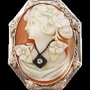 Vintage Edwardian Cameo Habille Brooch or Pendant