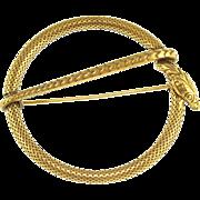 Vintage Gold Tone Snake Pin