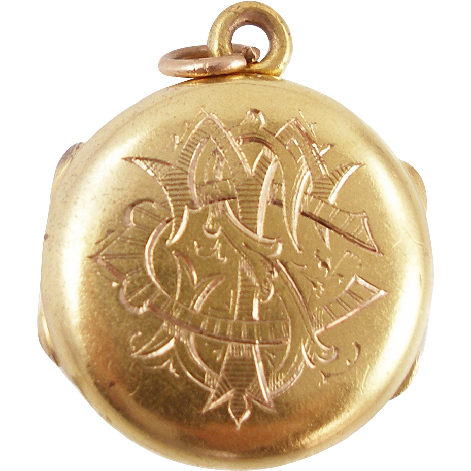 Vintage Engraved Gold Locket