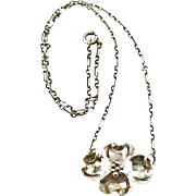 Vintage NYE Sterling Dogwood Flower Necklace