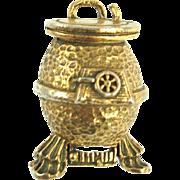 Vintage Zentall Potbelly Stove Pin