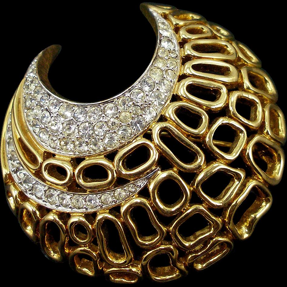 Vintage Jomaz Rhinestone Designer Pin