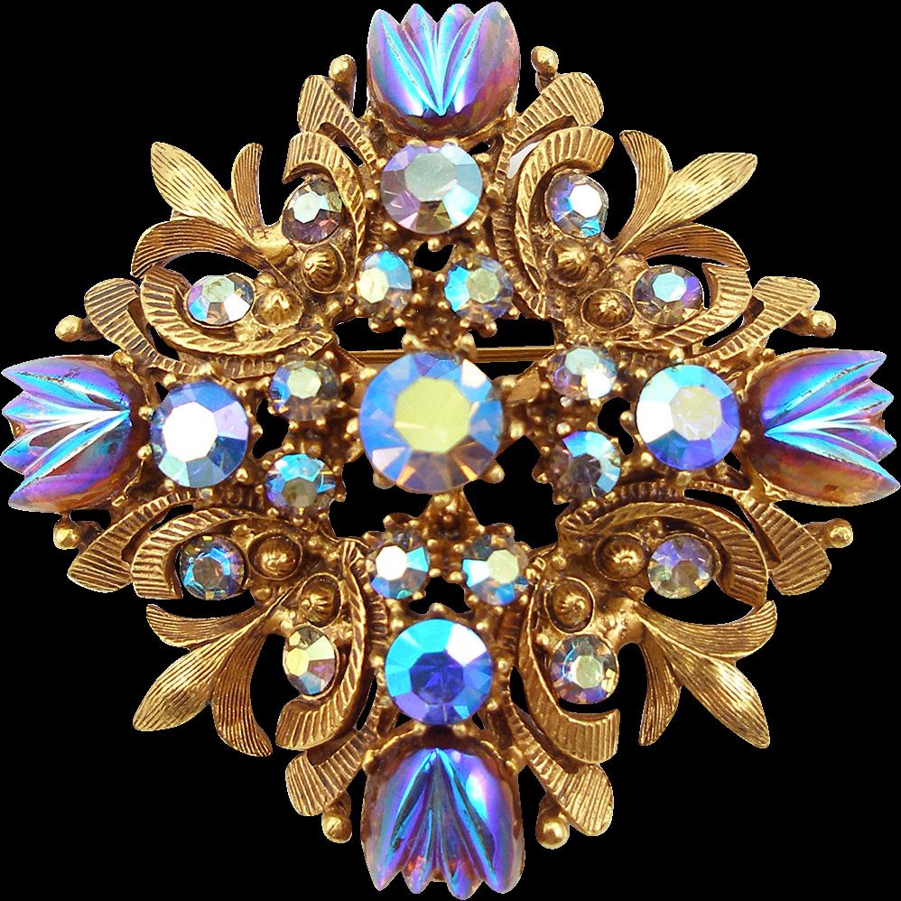 Vintage Florenza Maltese Cross Designer Pin or Pendant
