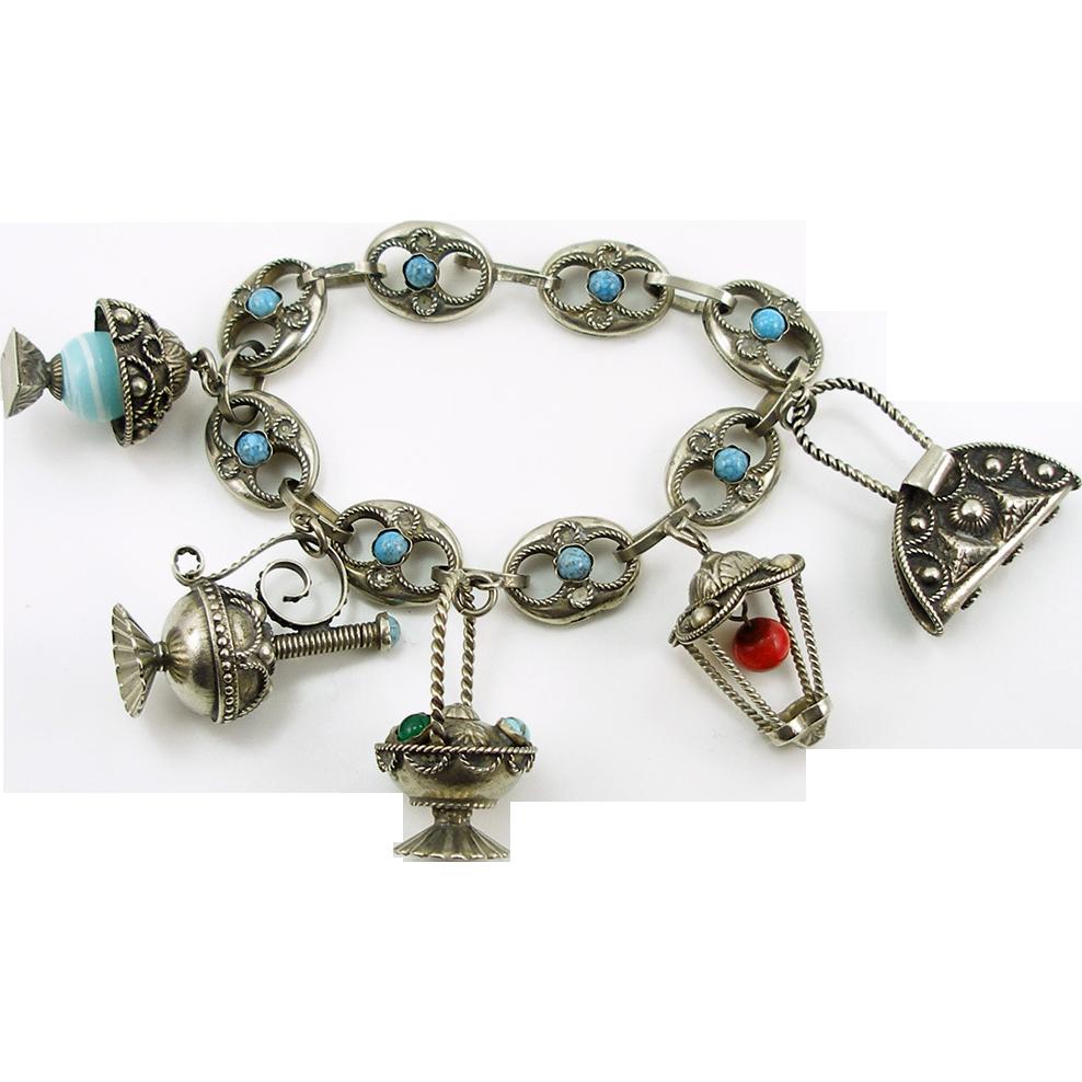 Vintage Italian Charm Bracelet