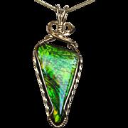 Bright Green Ammolite Pendant
