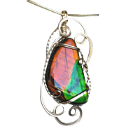 Christmas in July Ammolite Pendant