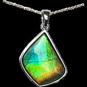 Sweet and Simple Ammolite Pendant