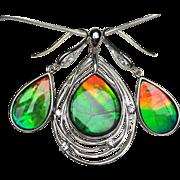 Ammolite Pendant and Earring Set - Solara Style Pendant!