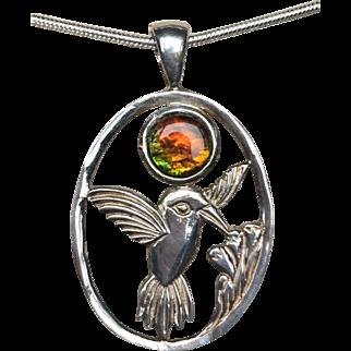 Hummingbird Ammolite Pendant