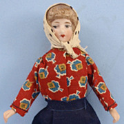 All Original Dollhouse Woman in Colorful Peasant Outfit