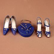 Vintage Handmade Leather Heels, Sandals, Purse