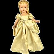 "14"" Hard Plastic Madam Alexander 1950s Cinderella"