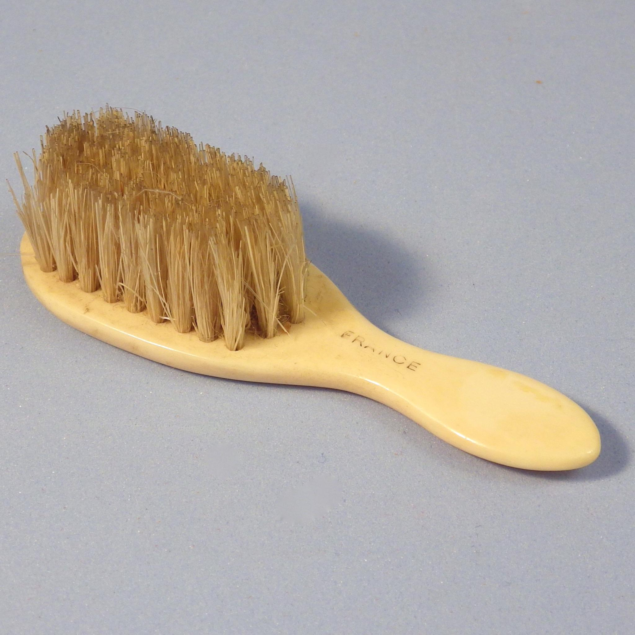 Early Cream-Colored Doll Hairbrush, France