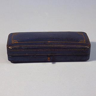 Leather German Jewelry Presentation Box, Silk Lined