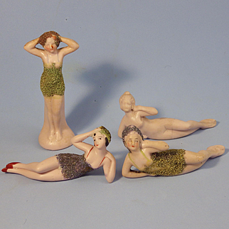 4 Hertwig Flapper Bathing Beauties, Boo-Boo Bargains