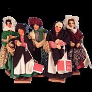 5 Vintage Handmade Jays Irish Dolls