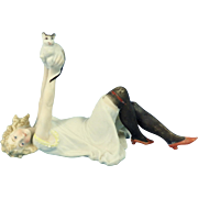 Schafer &  Vater Black-Stocking Lady & Cat