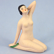 Hertwig Kneeling Nude Flapper Bathing Beauty