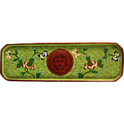 Chinese Cloisonné Harvard Seal Pen Tray