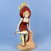 Schafer & Vater Erotic Edwardian Lady, Vase