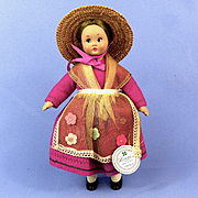All Original Lenci Celluloid Doll, Tag