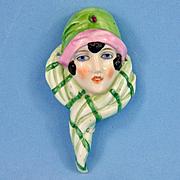 Flapper Flat Head Half Doll Bas Relief