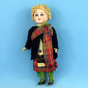 "8"" Simon & Halbig Boy Original Scottish Outfit"