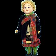"8"" Simon & Halbig Boy Original Scottish Outfit"