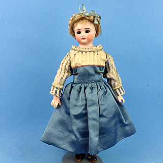 Petite Closed-Mouth Bisque Head Kling, Antique Clothing