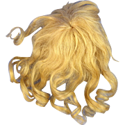Small Old Blonde Mohair Wig, Long Curls