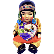 All Bisque Asian Baby, Elaborate Costume