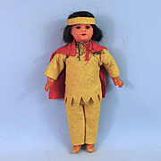 Bisque Head Indian Man, Original Costume