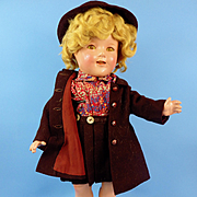 "18"" Compo Shirley Temple, Huge Wardrobe"